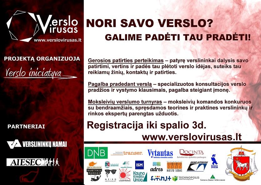 """Registruokis į projektą """"Verslo virusas""""!"""