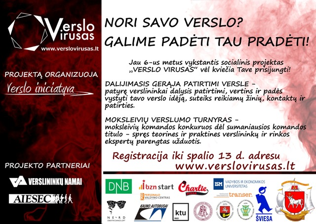 MAŽAS Verslo virusas 2014_plakatas